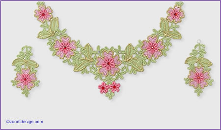 Lace Jewelry - Zundt Design, Ltd. :  embroidery designer jewelry zundtdesign