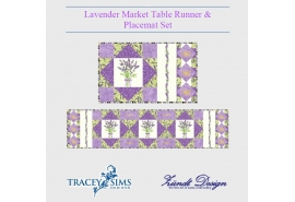 Lavender Market Table Runner Placemat Set